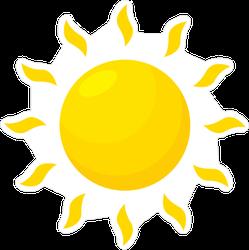 Simple Sun Cartoon Sticker