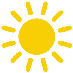 Simple Sun Drawing Sticker