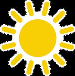 Simple Sun Drawing Sticker