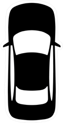 Simple Top View Car Sticker