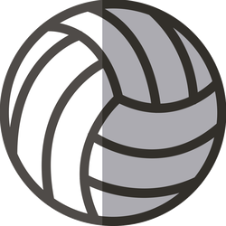 Simple Volleyball Sticker