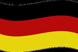 Simple Waving Germany Flag Sticker