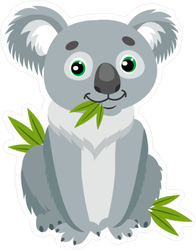 Sitting Koala Bear Sticker