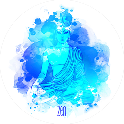 Sitting Watercolor Buddha Sticker