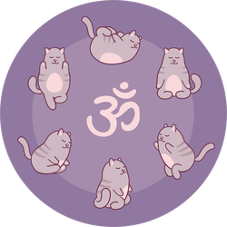 Six Cute Yoga Cats Sticker