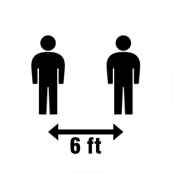 Six Feet Apart Icon Sticker