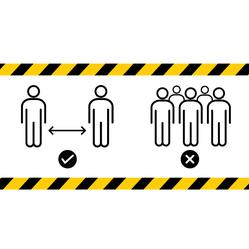 Six Feet Apart Icons Sticker