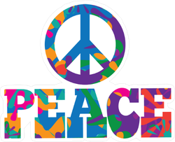 Sixties Style Peace Sticker