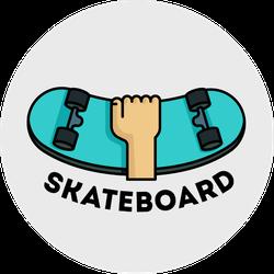 Skateboard Logo Sticker