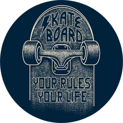 Skateboard Your Rules Your Life Sticker
