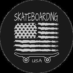 Skateboarding Of  Usa Sticker