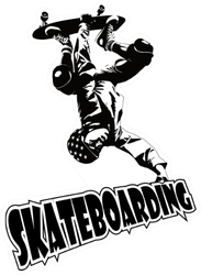 Skateboarding Sketch Sticker