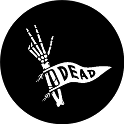 Skeleton Hand With Dead Pennant Sticker