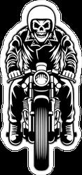 Skeleton Riding Motorcycle Sticker