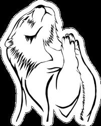 Sketch Design Of Illustration Beaver Sticker