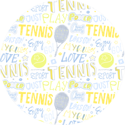 Sketch Handwritten Tennis Pattern Sticker