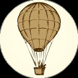 Sketch Hot Air Balloon Sticker