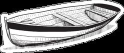 Sketch Of Boat On Beach Sticker