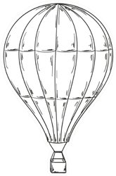 Sketch Of The Balloon Sticker