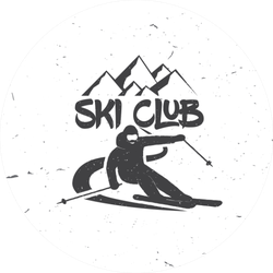 Ski Club Concept Sticker