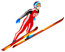 Ski Jumping Athlete Winter Sport Man Sticker