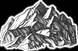 Ski Mountain Illustration Sticker