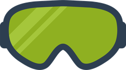 Skiing And Snowboard Goggles Sticker