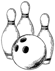 Skittles And Bowling Ball Engraving Sticker