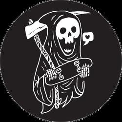 Skull Skateboard Graphic Sticker