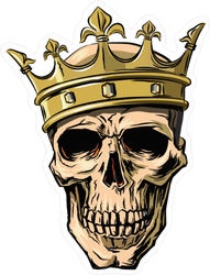 Skull Wearing Crown Sticker