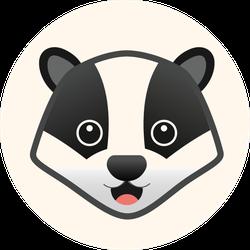 Skunk Flat Illustration Sticker