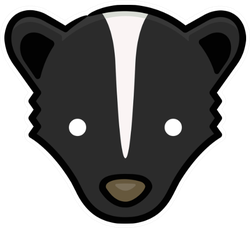 Skunk Head Hand Drawn Icon Sticker