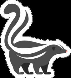 Skunk Illustration Sticker