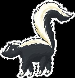 Skunk Isolated American Mammal Sticker