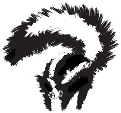 Skunk Wearing A Respirator Mask Sticker