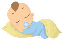 Sleeping Baby Boy Sticker