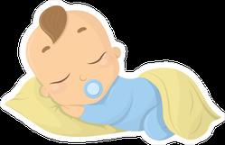 Sleeping Baby Boy Sticker