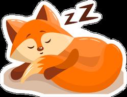 Sleeping Fox Kit Sticker