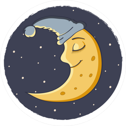 Sleeping Moon Sticker