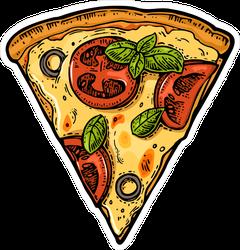 Slice Of Margherita Pizza Sticker
