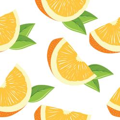 Slices Of Orange Pattern Sticker