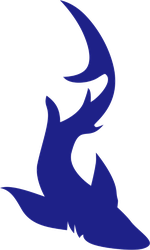 Slithering Shark Sticker