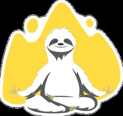 Sloth Practicing Yoga Sticker