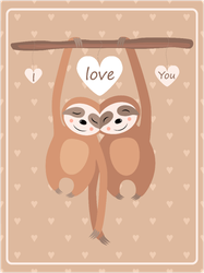 Sloths In Love Sticker