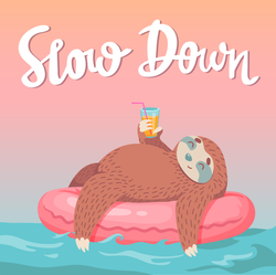 Slow Down Relaxing Sloth Sticker