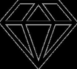 Small Diamond Icon Sticker