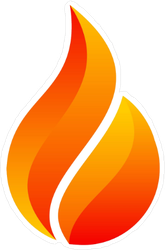 Small Flame Fire Sticker