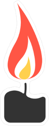 Small Lit Candle Sticker