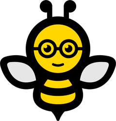 Smart Bee Icon Sticker