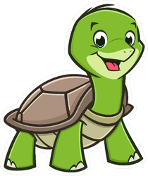 Smiling Baby Turtle Sticker